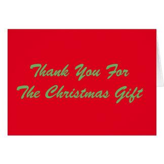 クリスマスのギフト、赤および緑をありがとう カード