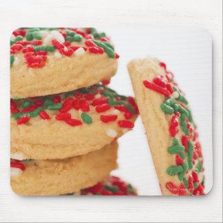 クリスマスのクッキーのスタジオの打撃はとの振りかけます マウスパッド
