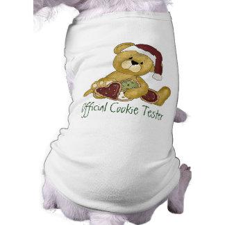 クリスマスのクッキーのテスター ペット服