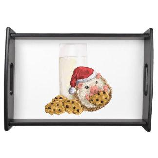 クリスマスのクッキーのブタ トレー