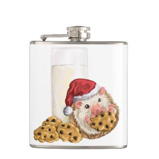 クリスマスのクッキーのブタ フラスク