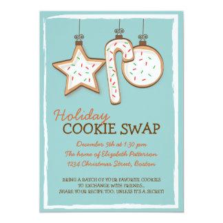 クリスマスのクッキーの交換の休日の招待状 カード