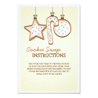 クリスマスのクッキーの交換の説明書 カード