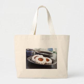 クリスマスのクッキーの布の買い物袋 ラージトートバッグ