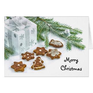 クリスマスのクッキーの挨拶状 カード