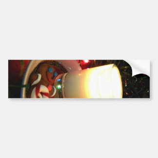 クリスマスのクッキーの蝋燭I バンパーステッカー