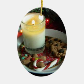 クリスマスのクッキーの蝋燭III セラミックオーナメント