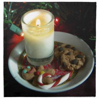 クリスマスのクッキーの蝋燭III ナプキンクロス