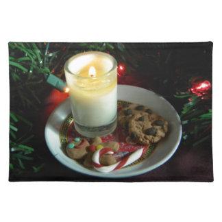 クリスマスのクッキーの蝋燭III ランチョンマット