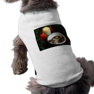 クリスマスのクッキーの蝋燭V ペット服