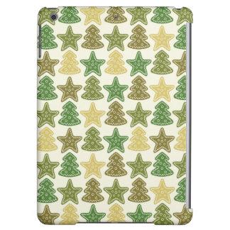 クリスマスのクッキーパターン iPad AIRケース