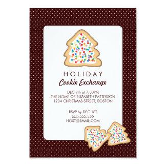 クリスマスのクッキー交換休日のパーティの招待状 カード