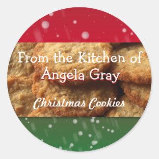クリスマスのクッキー交換台所手製のベーキング ラウンドシール