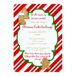 クリスマスのクッキー交換招待状 カード