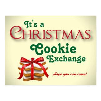 クリスマスのクッキー交換郵便はがき ポストカード