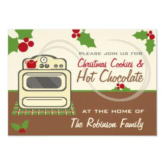 クリスマスのクッキー及びココアのパーティーのレトロ カード