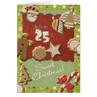 クリスマスのクッキー カード