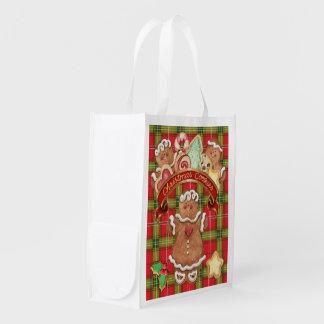 クリスマスのクッキー-食料雑貨、ギフト、好意のバッグ- SRF エコバッグ