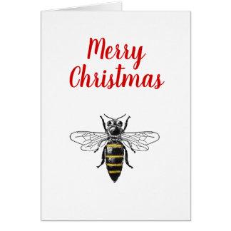 クリスマスのクリスマスのHeraldicヴィンテージの蜂#2色 カード