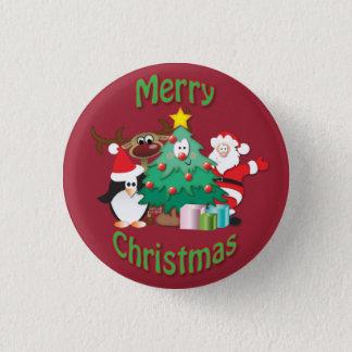 クリスマスのグループボタン 3.2CM 丸型バッジ