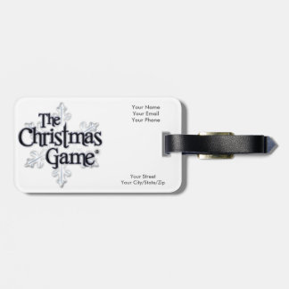 クリスマスのゲームの荷物のラベル ラゲッジタグ