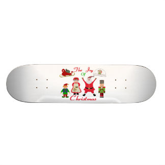 クリスマスのコラージュの喜び スケートボード
