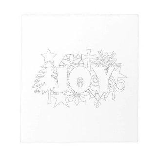 クリスマスのコラージュの喜び ノートパッド