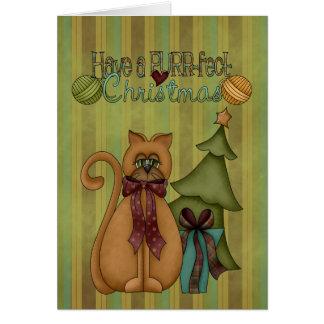 クリスマスのコレクションののどを鳴らす音fect猫の挨拶状 カード