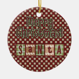 クリスマスのコレクションのサンタのブロック セラミックオーナメント
