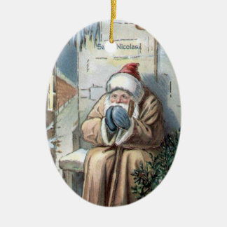 クリスマスのコレクションのヴィンテージの聖者ニコラス セラミックオーナメント