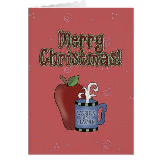 クリスマスのコレクションの最も最高のな先生の挨拶状 カード