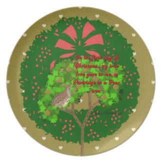 クリスマスのコレクションの12日: 日1 プレート