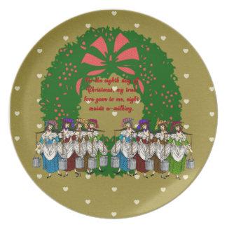 クリスマスのコレクションの12日: 日8 プレート