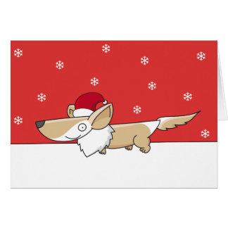 クリスマスのコーギーカード カード