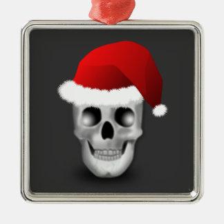 クリスマスのゴシックのスカルサンタクロース メタルオーナメント