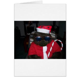 クリスマスのゴリラサンタクロース カード