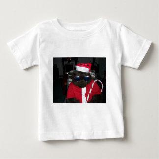 クリスマスのゴリラサンタクロース ベビーTシャツ