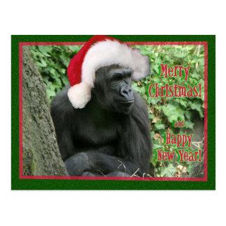 クリスマスのゴリラ ポストカード