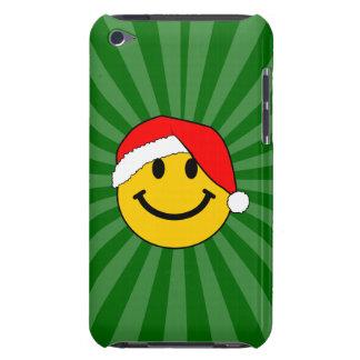 クリスマスのサンタのスマイリーフェイス iPod TOUCH Case-Mate ケース