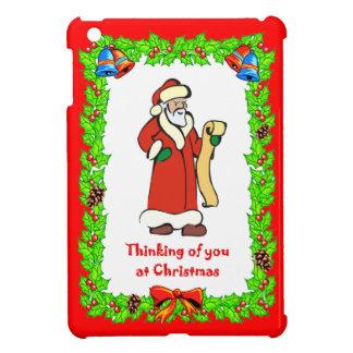 クリスマスのサンタのリスト iPad MINIケース