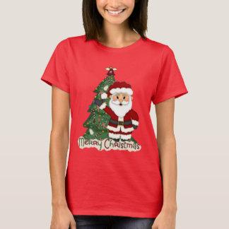 クリスマスのサンタの休日の漫画のTシャツ Tシャツ