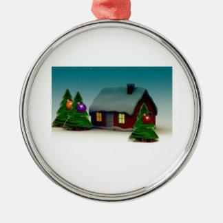 クリスマスのサンタの木のためのショウガのパンの家 メタルオーナメント