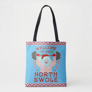 クリスマスのサンタクロースおもしろいなSwoleの重量挙げ選手 トートバッグ