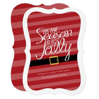 クリスマスのサンタクロースのすてきなスーツ-非写真 12.7 X 17.8 インビテーションカード