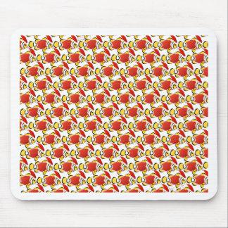 クリスマスのサンタClownfishの魚パターンz マウスパッド