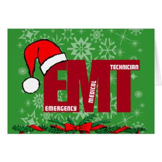 クリスマスのサンタEMTの緊急の医学の技術者 カード