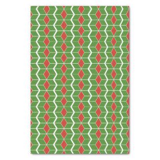 クリスマスのシェブロンのティッシュペーパー 薄葉紙