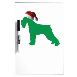 クリスマスのシュナウツァー ホワイトボード