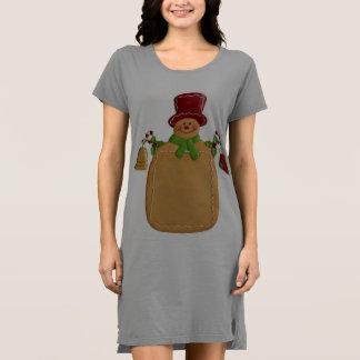 クリスマスのショウガのパンの人の女性のTシャツの服 ドレス
