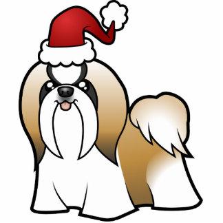 クリスマスのシーズー(犬)のTzuのオーナメント(切られるショー) 写真彫刻オーナメント